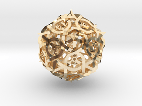 Thorn d20 Ornament in 14K Yellow Gold