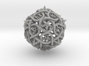 Thorn d20 Ornament in Aluminum