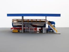 N Tank Truck Loading Bottom (part 1/2) in Smooth Fine Detail Plastic