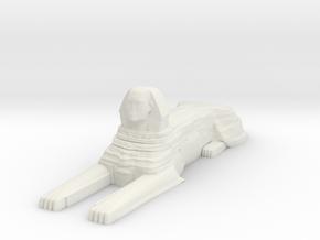 Sphinx in White Natural Versatile Plastic