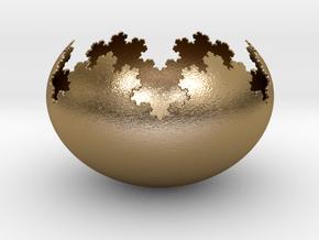 Koch Flake Bowl in Polished Gold Steel