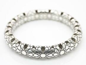 Beraldo Bangle - Silver  in Polished Silver
