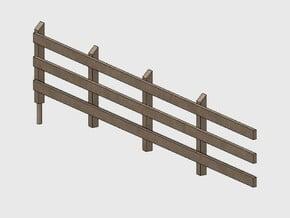 Wood Rail Fence - 4L (2 ea.) in White Natural Versatile Plastic: 1:87 - HO