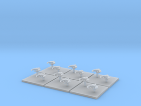 Assault Boats (6) (Tall) in Smooth Fine Detail Plastic