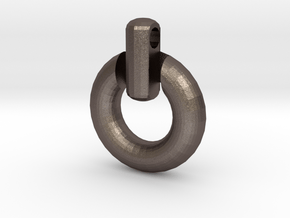 Power Symbol Penant in Polished Bronzed Silver Steel