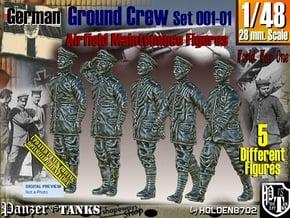 1/48 German Ground Crew SET001-01 in Smooth Fine Detail Plastic