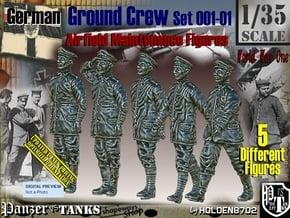 1/35 German Ground Crew SET001-01 in Smooth Fine Detail Plastic