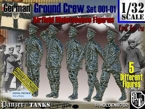 1/32 German Ground Crew SET001-01 in White Natural Versatile Plastic