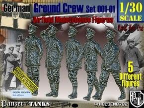 1/30 German Ground Crew SET001-01 in White Natural Versatile Plastic