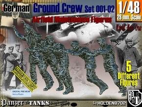 1/48 German Ground Crew SET001-02 in Smooth Fine Detail Plastic
