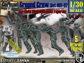 1/30 German Ground Crew SET001-02 in White Natural Versatile Plastic