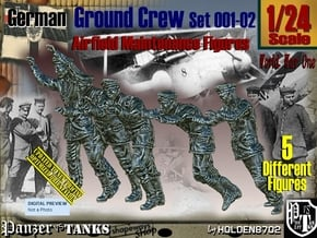 1/24 German Ground Crew SET001-02 in White Natural Versatile Plastic
