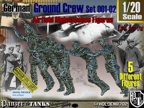 1/20 German Ground Crew SET001-02 in White Natural Versatile Plastic