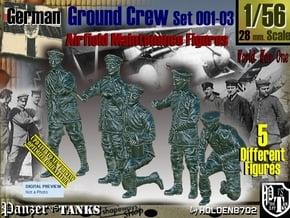1-/56 German Ground Crew SET001-03 in Smooth Fine Detail Plastic