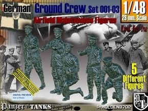 1/48 German Ground Crew SET001-03 in Smooth Fine Detail Plastic
