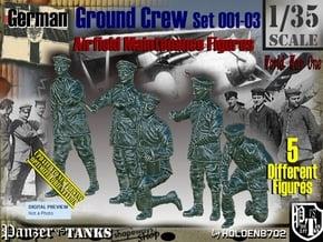 1/35 German Ground Crew SET001-03 in Smooth Fine Detail Plastic