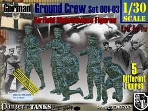 1/30 German Ground Crew SET001-03 in White Natural Versatile Plastic