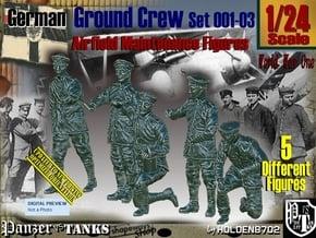 1/24 German Ground Crew SET001-03 in White Natural Versatile Plastic