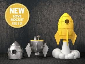 Love Rocket - Proposal Ring Box in Yellow Processed Versatile Plastic