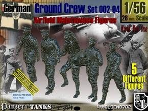 1/56 German Ground Crew SET002-04 in Smooth Fine Detail Plastic