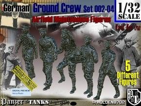 1/32 German Ground Crew SET002-04 in White Natural Versatile Plastic