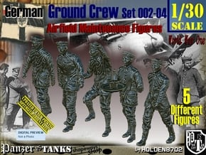 1/30 German Ground Crew SET002-04 in White Natural Versatile Plastic