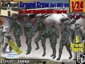 1/24 German Ground Crew SET002-04 in White Natural Versatile Plastic