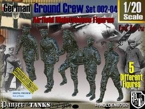1/20 German Ground Crew SET002-04 in White Natural Versatile Plastic