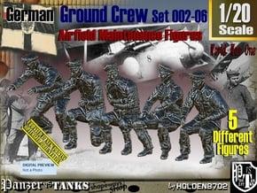 1/20 German Ground Crew SET002-06 in White Natural Versatile Plastic
