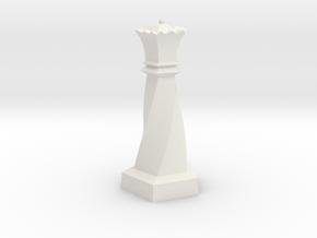 Geometric Chess Set Queen in White Premium Versatile Plastic