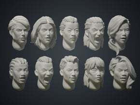 Warfaces2 - Mix Female in Smoothest Fine Detail Plastic: Medium