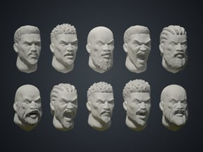 Warfaces 2 - African Male in Smoothest Fine Detail Plastic: Medium