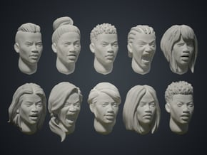 Warfaces2 - African Female in Smoothest Fine Detail Plastic: Medium