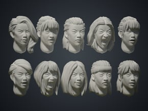 Warfaces2 - Asian Female in Smoothest Fine Detail Plastic: Medium