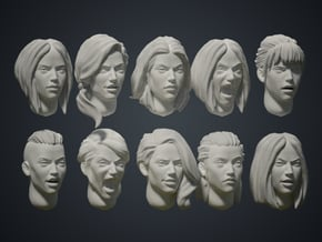 Warfaces2 - Caucasian Female in Smoothest Fine Detail Plastic: Medium