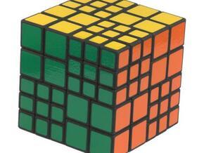 Chimera puzzle (4x4 + 6x6 cube) in White Natural Versatile Plastic