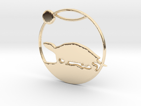 Turtle Pendant in 14k Gold Plated Brass