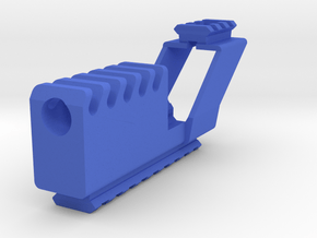 Suppressor with Top and Bottom Rails for G17 G18C in Blue Processed Versatile Plastic