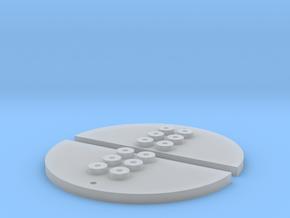 Placa Popa 8 puntos (x2) in Smooth Fine Detail Plastic