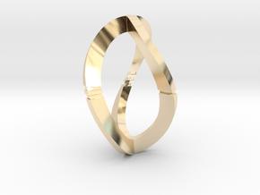 Modern Art D3 / 3-Sided Die in 14k Gold Plated Brass