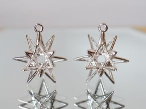 Starry Knight Earrings in Rhodium Plated Brass