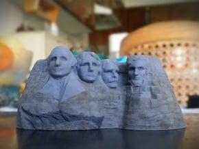Mount Rushmore 3D print in Full Color Sandstone