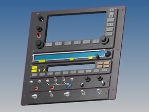 Jet Ranger - Top Centre Console in White Processed Versatile Plastic