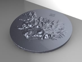 Island Terrain in White Natural Versatile Plastic