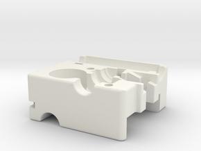 Ultimaker Adaptor Main Block in White Natural Versatile Plastic