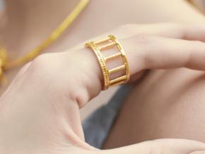 Greek Ring in 14k Gold Plated Brass: 6.5 / 52.75