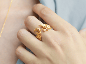 Renaissance Ring in 14k Gold Plated Brass: 6.5 / 52.75