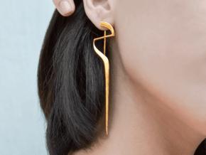 Sharp Edges Earring in 14k Gold Plated Brass