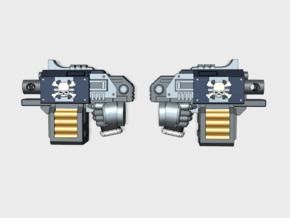 Xenos Hunters Blitz Pistol - 10pk: 5 Left, 5 Right in Smooth Fine Detail Plastic