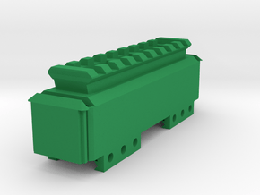 Stick Battery Box (100mm) with Top Picatinny Rail  in Green Processed Versatile Plastic